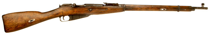 Deactivated WWII Russian Mosin Nagant M91/30 Infantry Rifle - Winter War Era